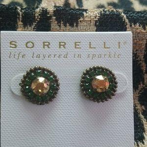 Sorrelli Gold Green Post NWT earrings